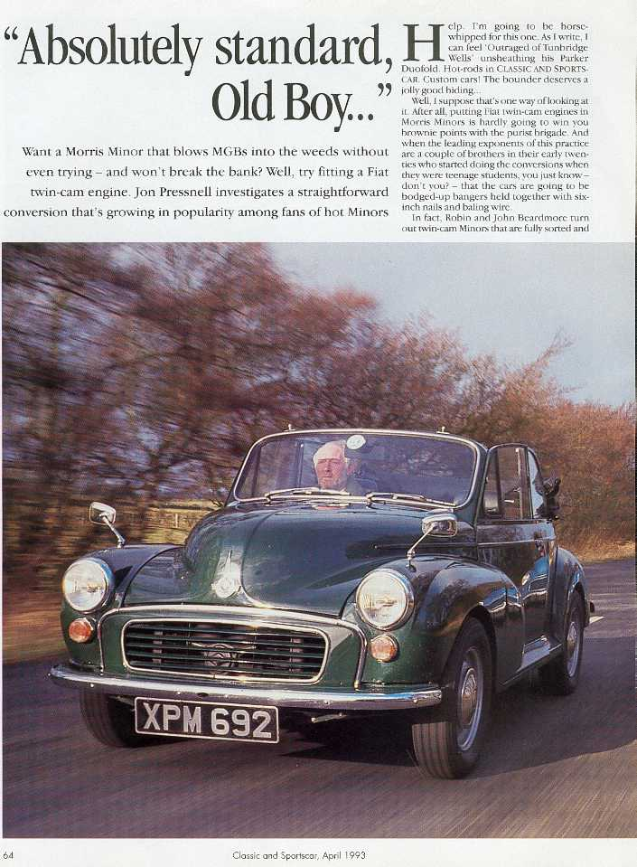 Classic and Sportscar Magazine Article (page 1)
