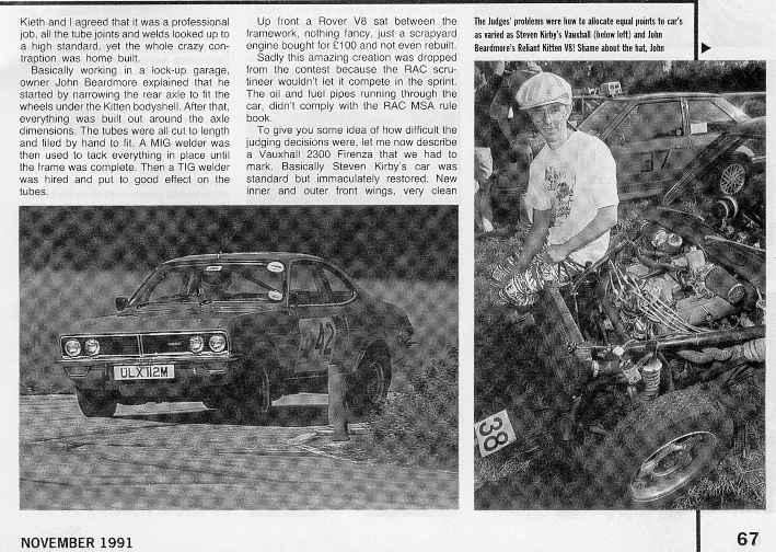 Reliant Kitten Car and Car Conversions Magazine Article