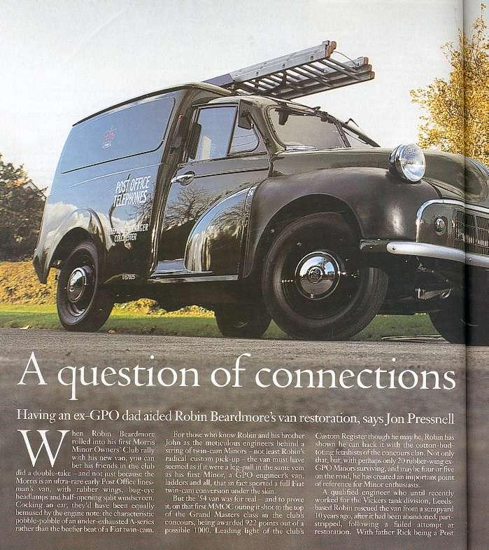 Beardmore Bros Robins GPO Van Classic And Sports Car