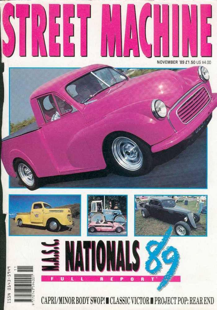 Roadster Pickup (pink) Street Machine Magazine Article (cover)