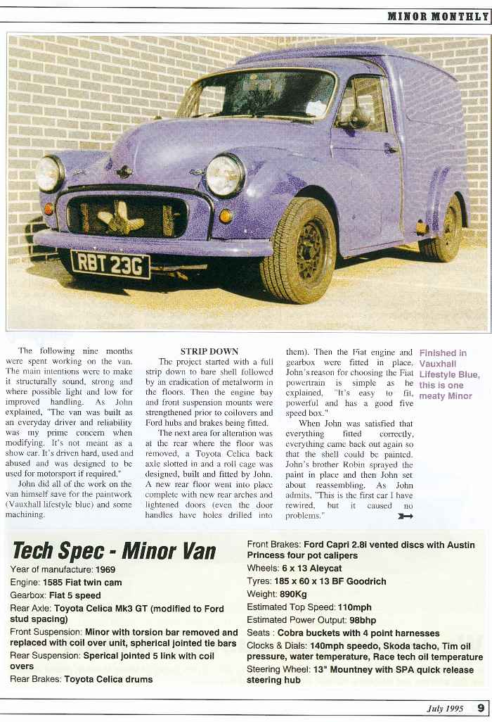 John`s rally van magazine article page 2