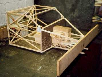 Wooden chassis model (1st design )