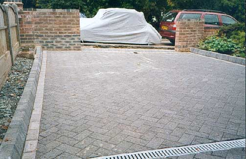 The finished paving.