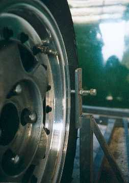 Close up of the tracking gauge in use.